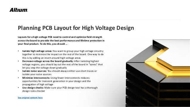 High Voltage PCB Design Presentation by Altium