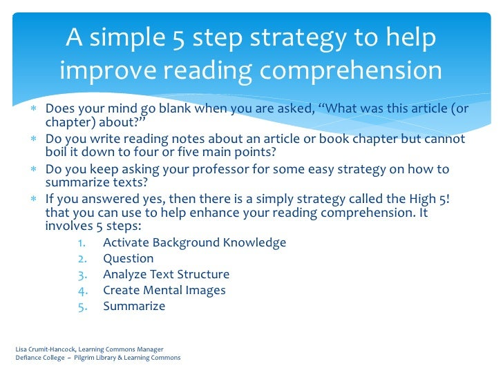 how to improve reading comprehension Learn specific ways to improve and help sustain his love for reading in 6th grade parents home books & reading  comprehension in 6th grade reading.