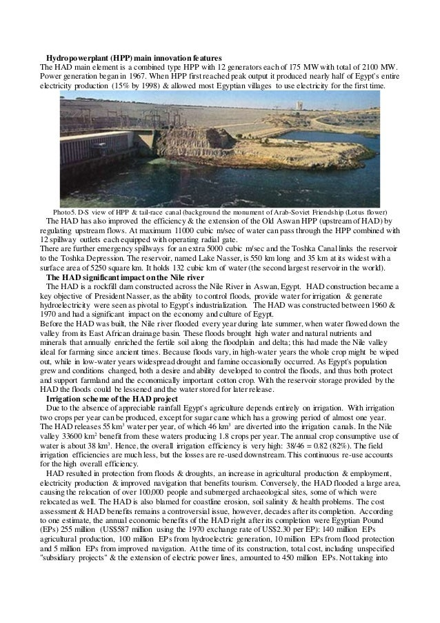 aswan dam negative effects