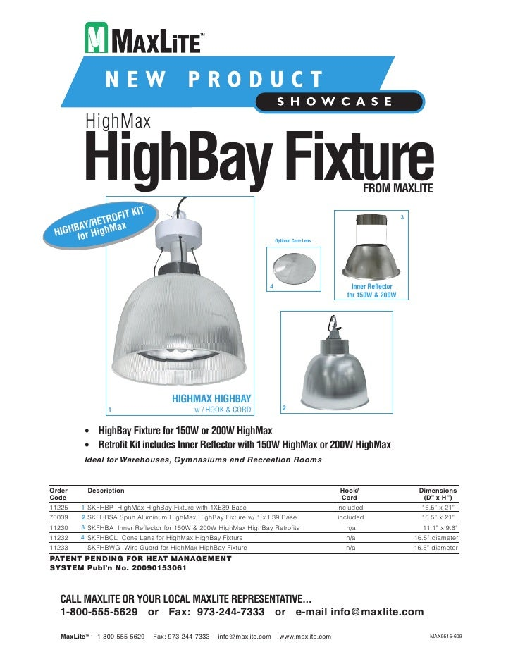 HighMax           HighBay Fixture                                                                           FROM MAXLITE  ...