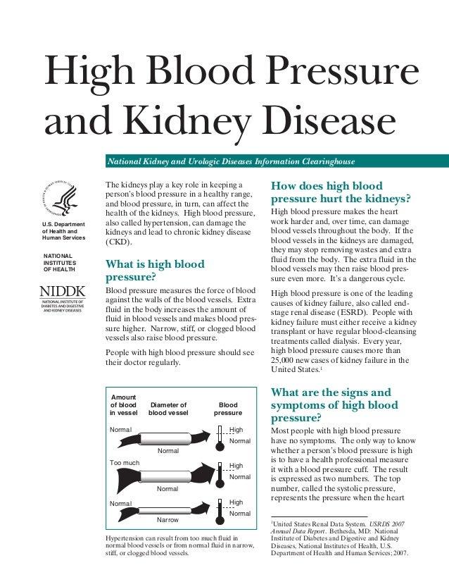 High Blood Pressure   and Kidney Disease   National Kidney and Urologic Diseases Information Clearinghouse  U.S.Departmen...