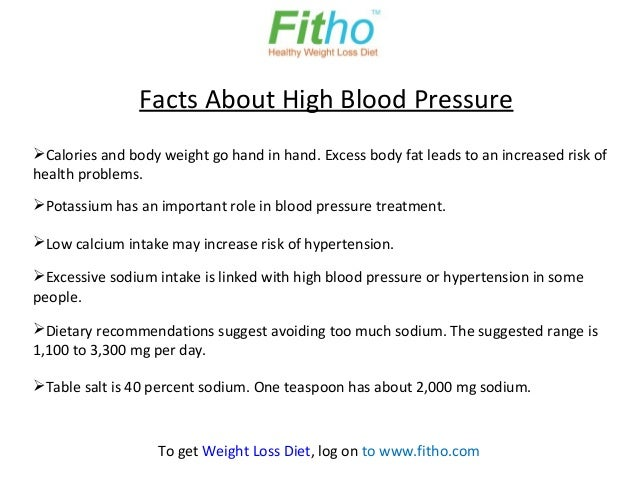 Key Facts About High Blood Pressure Diet - Fitho