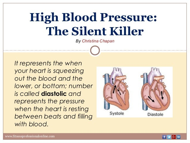 a silent killer There's a killer on the loose a killer, who does his work silently -- preying on people of adult age he does his work slowly at first, his work is barely noticeable.