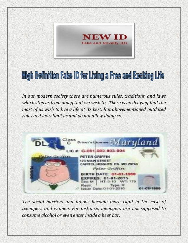 High Definition Fake ID for Living a Free and Exciting Life