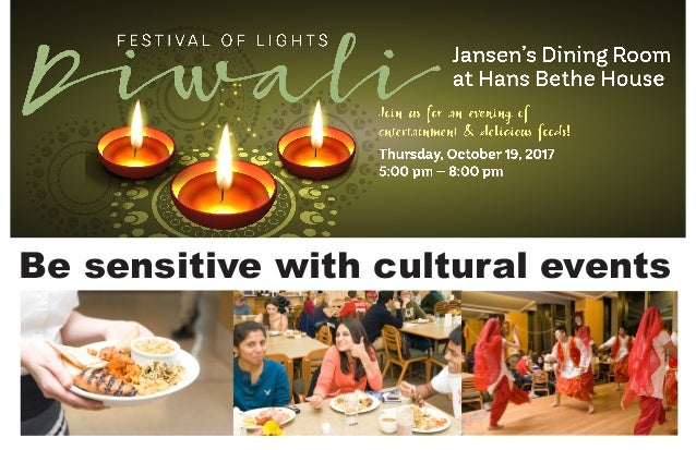 Be sensitive with cultural events