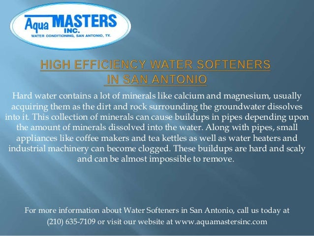 Hard water contains a lot of minerals like calcium and magnesium, usually  acquiring them as the dirt and rock surrounding...