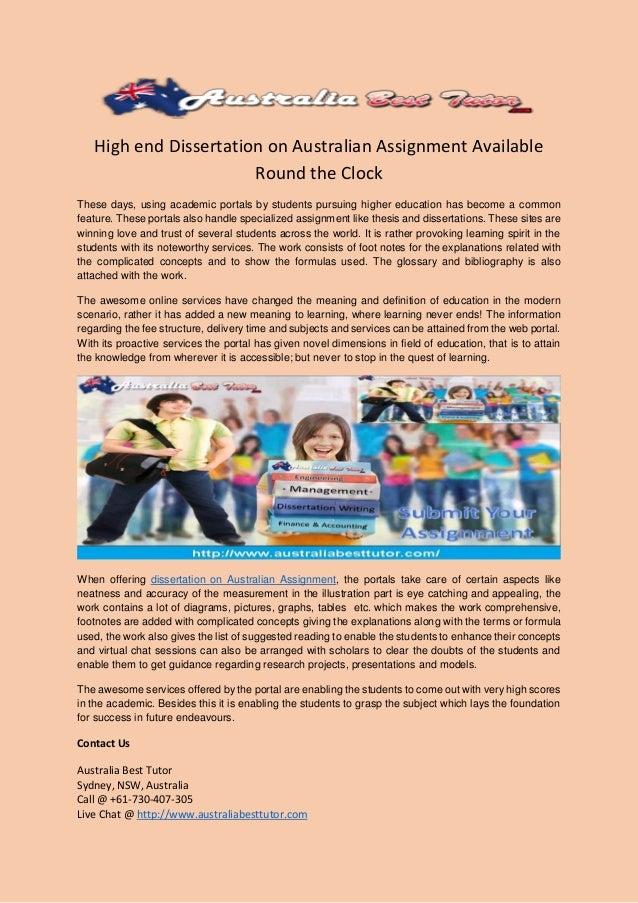 Australian Dissertation Help, Australian Dissertation Writing Services