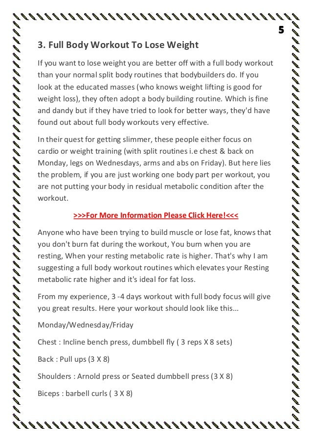 Amazing Gym Workout Chart For Men Monday To Friday With