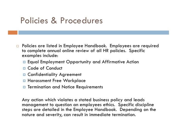 develop workplace policy and procedures for Develop workplace policy and procedures for sustainability sustainability focuses on the concept of interdependence, meaning that life on earth exists  due to a delicate balance of ecosystems if part of the system is disrupted, all life on earth experiences repercussions.