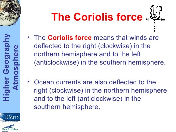 the coriolis force ul li the coriolis force means that
