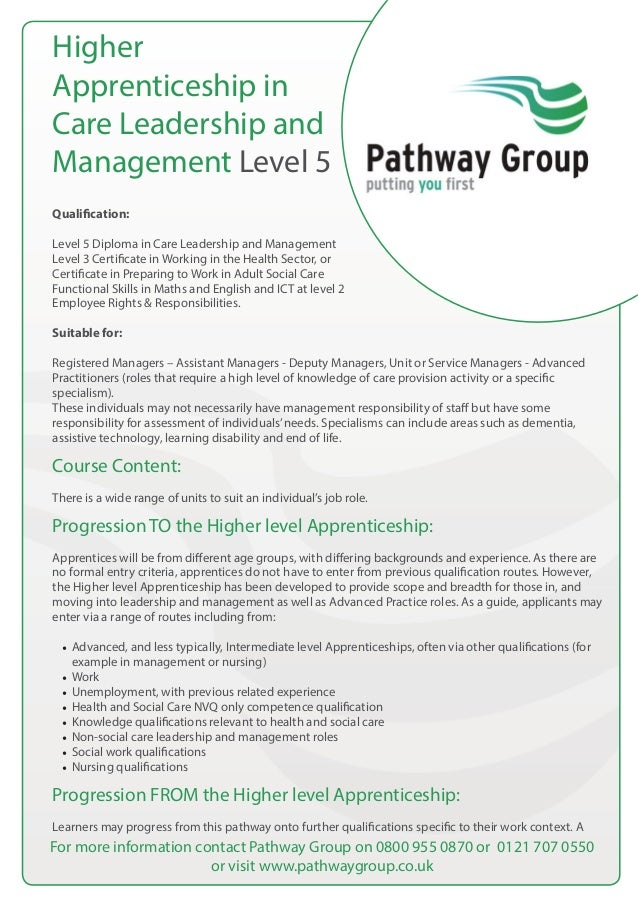 nvq level 5 diploma in leadership Our cmi level 5 diploma management and leadership distance learning qualification is enrolling now great tutor support and instalment options.