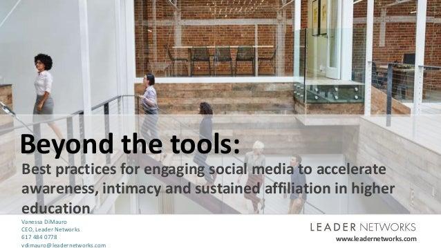 www.leadernetworks.com ©2016 Leader Networks. All rights reserved.www.leadernetworks.com Beyond the tools: Best practices ...