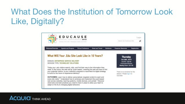What Does the Institution of Tomorrow Look Like, Digitally?