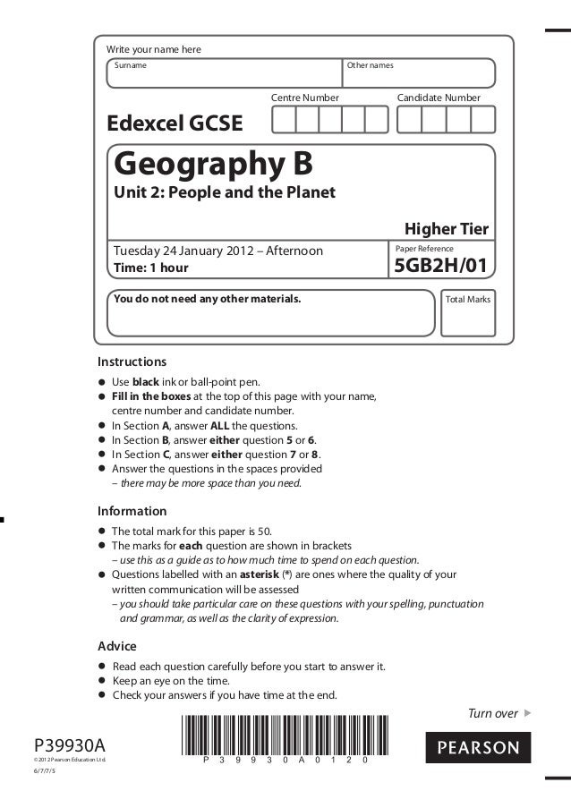 Professionally Written Geography Essays