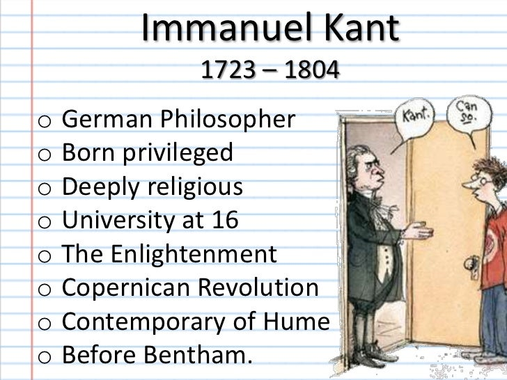 an analysis of goodness as proposed by immanuel kant Transcript of analysis of philosopher immanuel kant kantian ethics is based on the idea that moral things are done only for (1) the sake of duty, and for (2) the sake of duty alone in regards to the korean conflict perpetual peace – nations need rule of law.