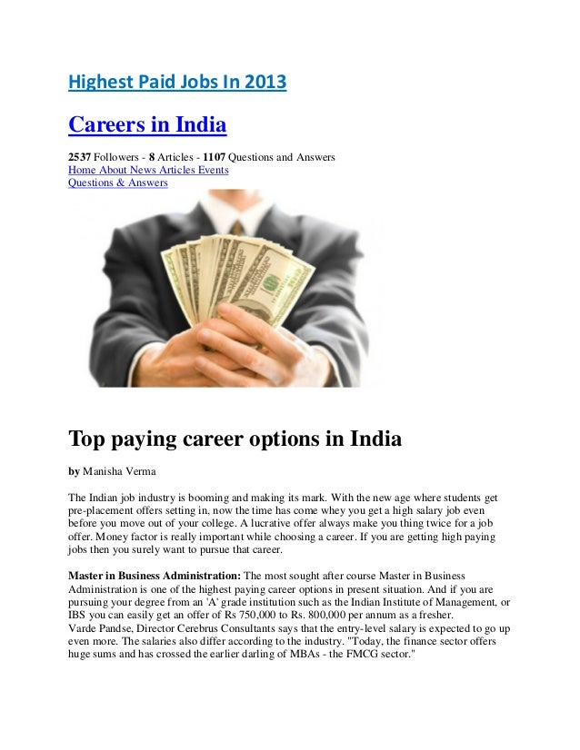 a high paying job is crucial There are a variety of careers and types of jobs that bring in high salaries for women high paying careers for women menu search go go finding a job job.