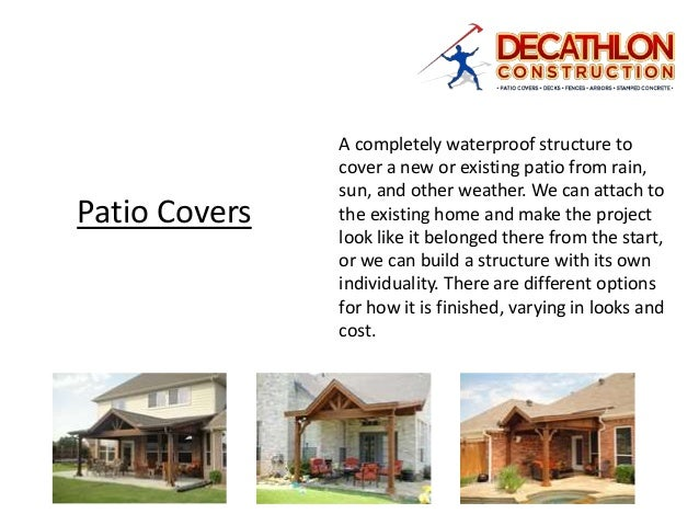 Patio Covers A Completely Waterproof ...