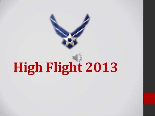 High Flight 2013