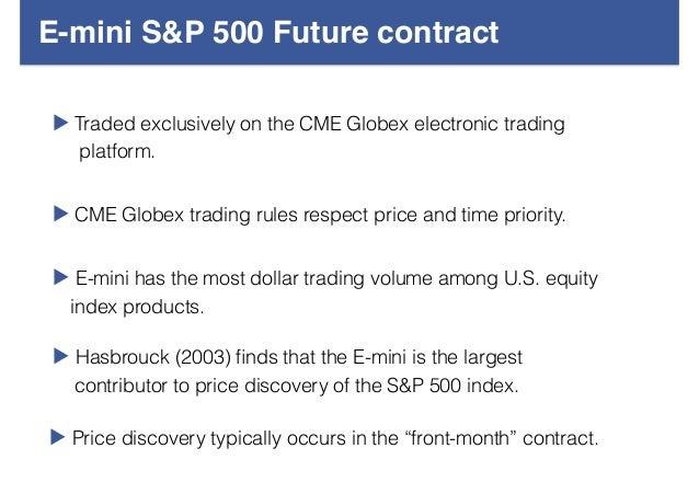 E-mini s&p 500 futures & options trading hours
