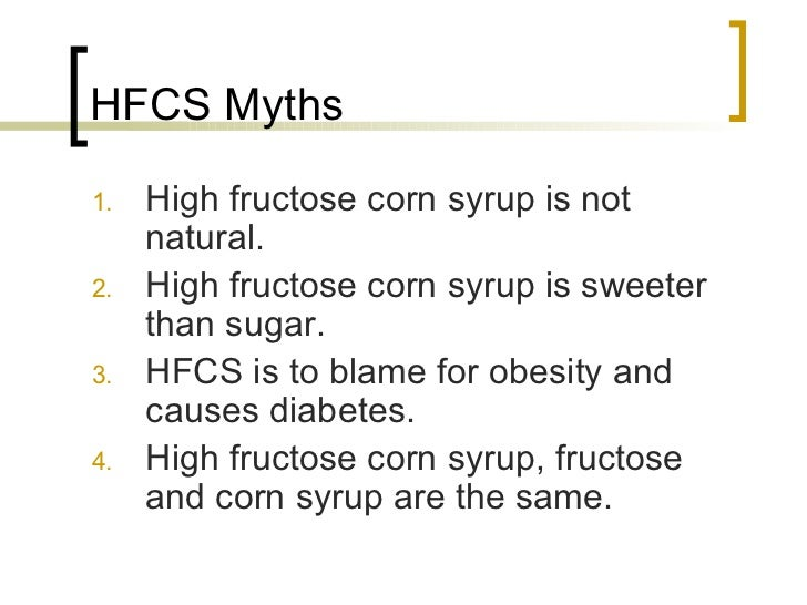 high fructose corn syrup and obesity