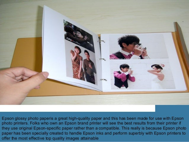High Glossy Photo Paper In The Print Presentation