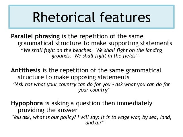 what is a parallel antithesis sentence In antithetical statements, a parallel structure is used to show the contradiction find out the definition of antithesis with example sentences.