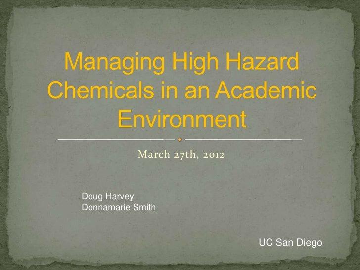 March 27th, 2012Doug HarveyDonnamarie Smith                               UC San Diego