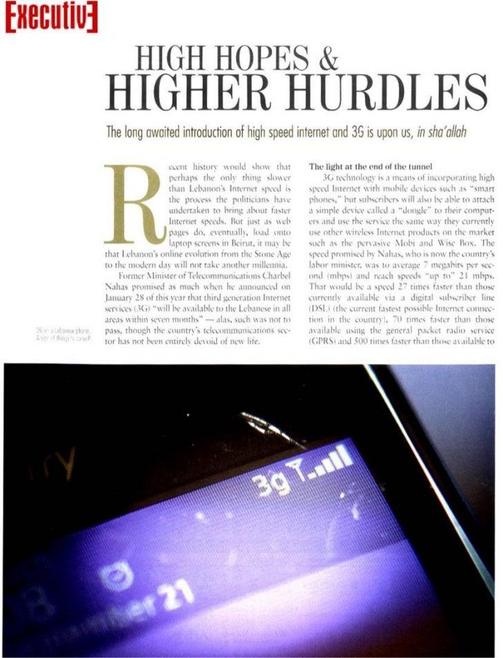 High hopes & higher hurdles