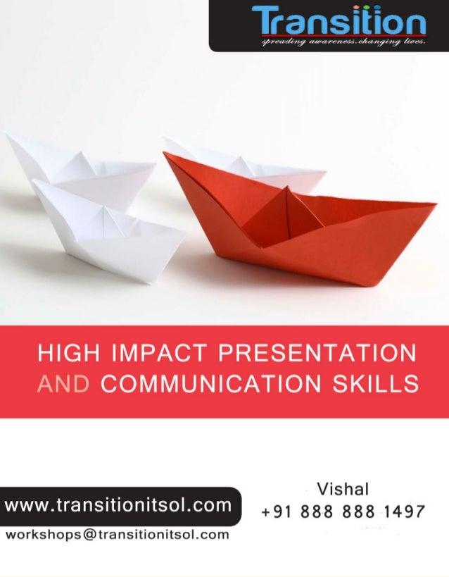 High-Impact Presentation Skills