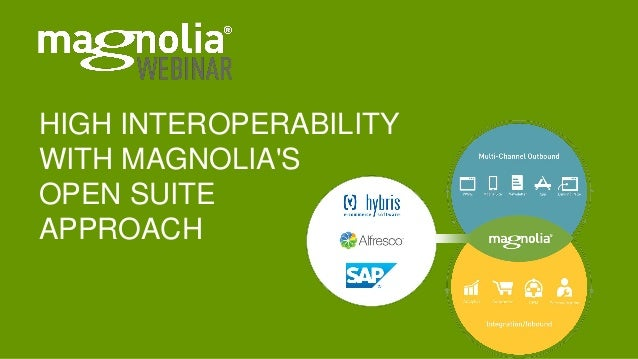 HIGH INTEROPERABILITY WITH MAGNOLIA'S OPEN SUITE APPROACH