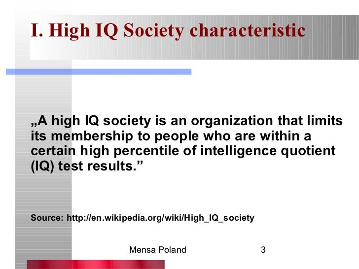 High iq societies