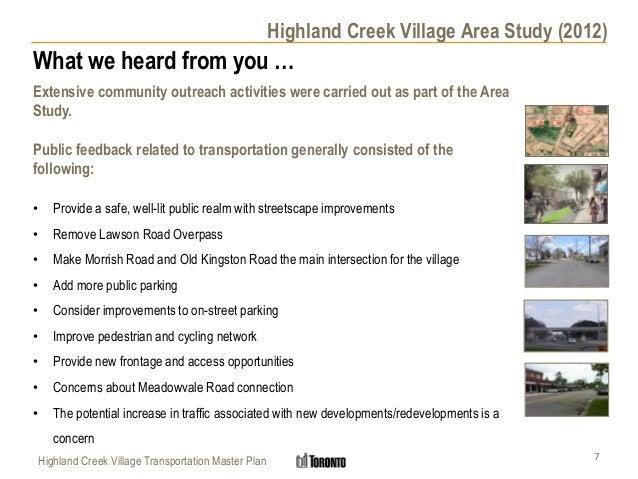 Highland Creek Village Transportation Master Plan