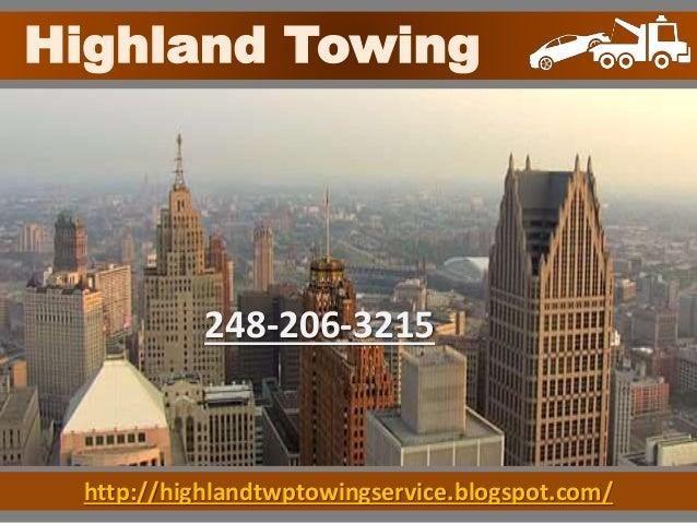 http://highlandtwptowingservice.blogspot.com/ Highland Towing 248-206-3215