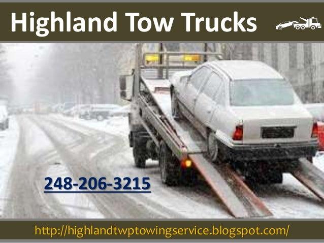http://highlandtwptowingservice.blogspot.com/ 248-206-3215 Highland Tow Trucks