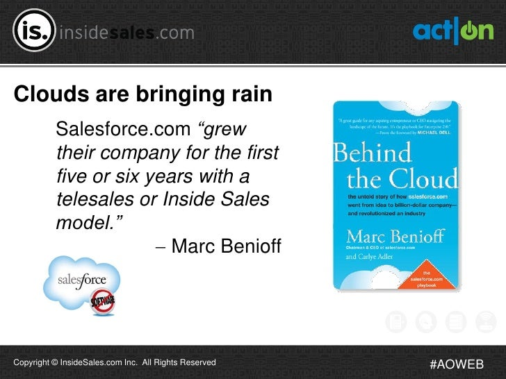 """Clouds are bringing rain          Salesforce.com """"grew          their company for the first          five or six years wit..."""