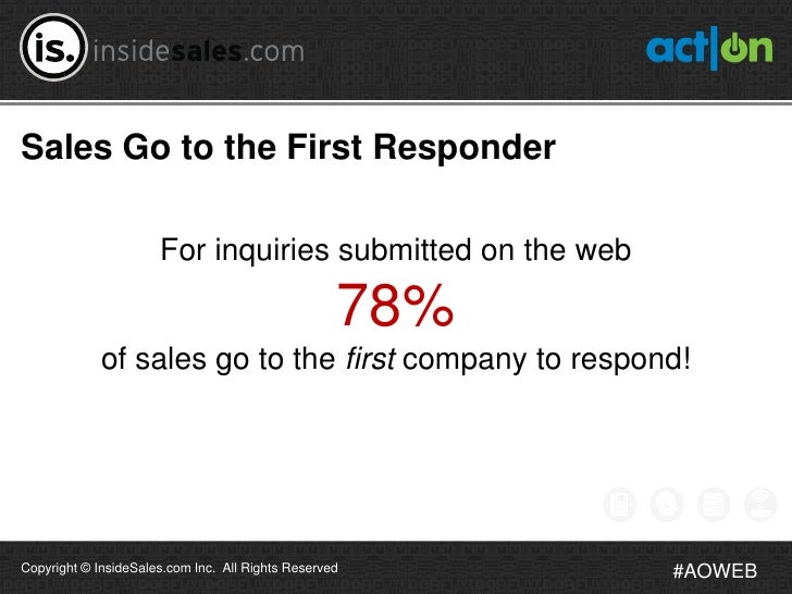 Sales Go to the First Responder                      For inquiries submitted on the web                                   ...