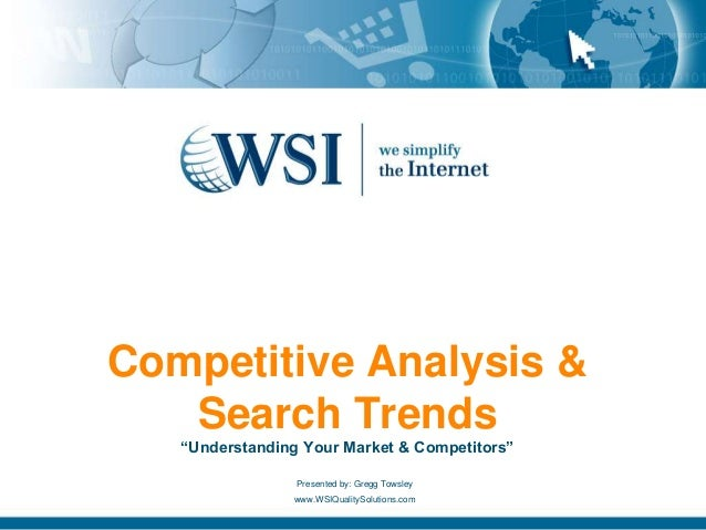 Example of Competitive Analysis and Search Trends – Competitive Analysis Example