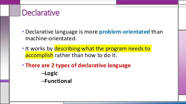 What Is Nonprocedural Language?