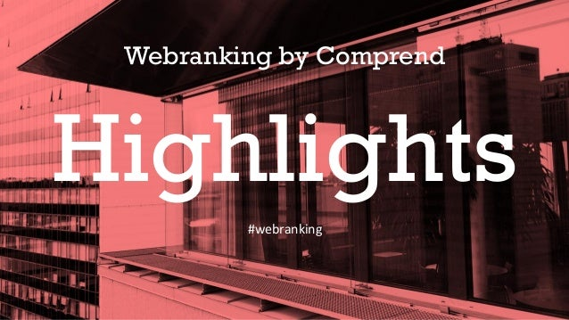 Webranking by Comprend Highlights #webranking