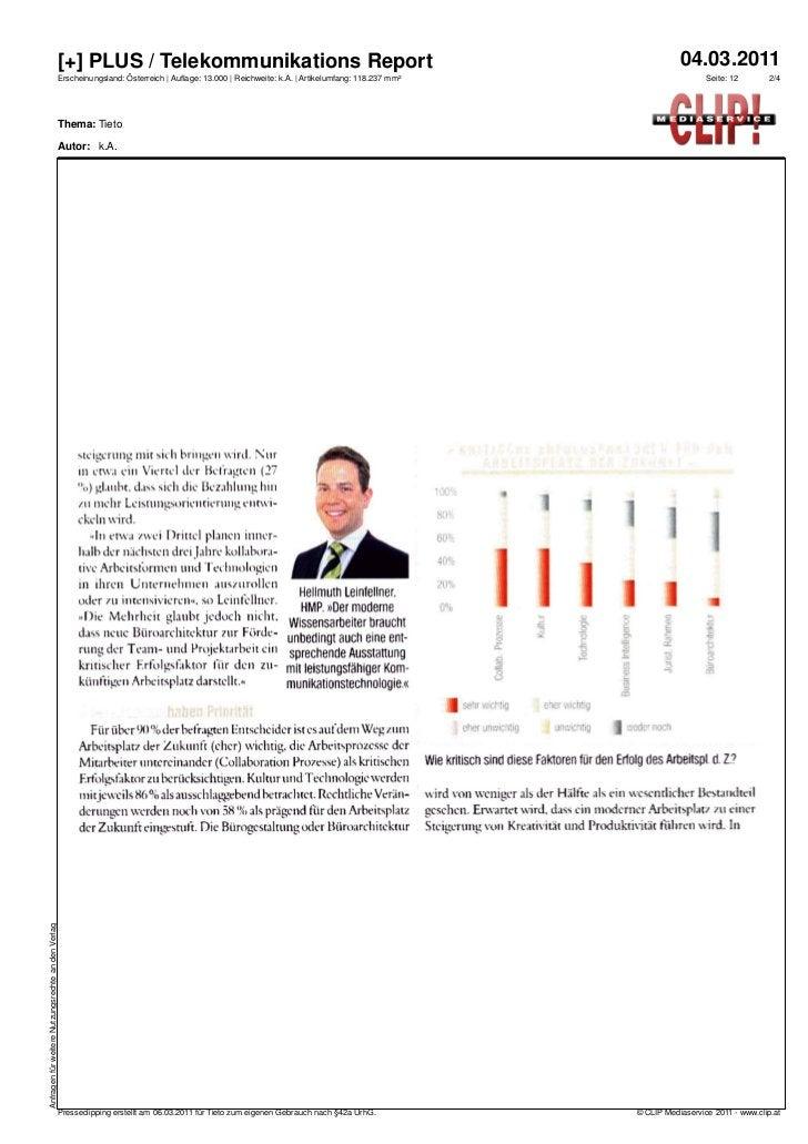 [+] PLUS / Telekommunikations Report                                                                                      ...