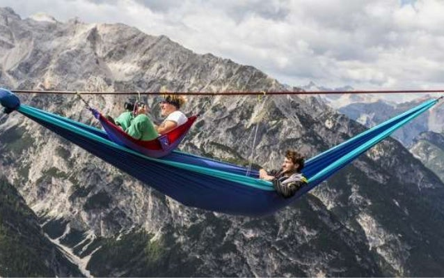 "A group of thrill-seekers each  year gather for an event called  the ""International Highline  Meeting""."