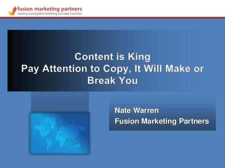 Nate WarrenFusion Marketing Partners