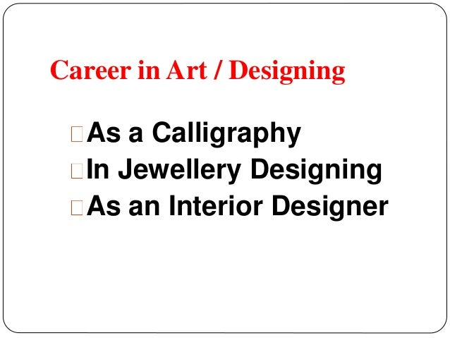 3 Career In Art Designing