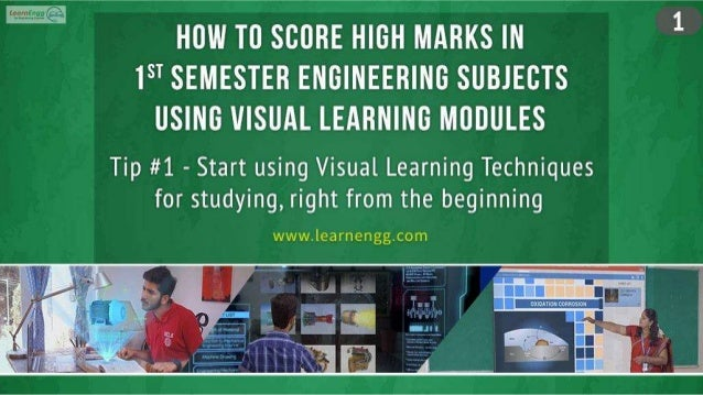 How to Score High Marks in 1st Semester Engineering Subjects using Visual Learning Modules Slide 2