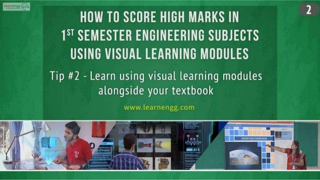 How to Score High Marks in 1st Semester Engineering Subjects using Visual Learning Modules Slide 3