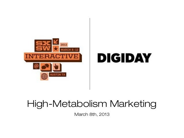 High-Metabolism Marketing         March 8th, 2013