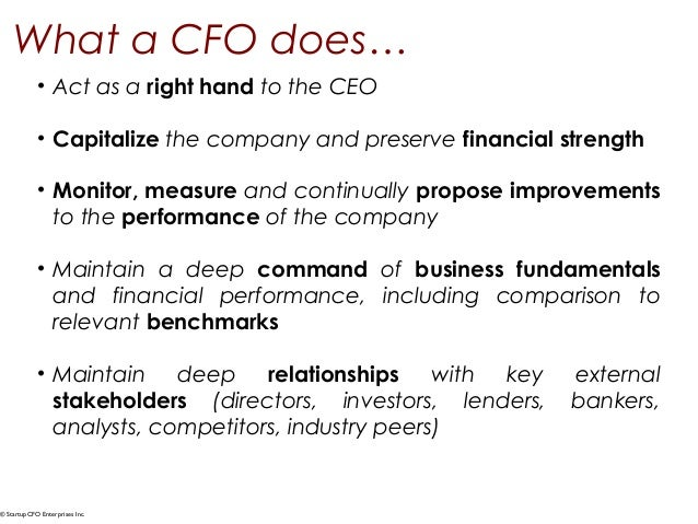 The High Performance CFO - everything you need to know