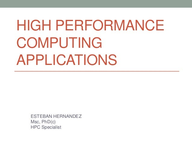 high performance computing research paper Bioinformatics and high performance computing research group the role of high performance computing in bioinformatics 3 the rest of the paper is organized as.
