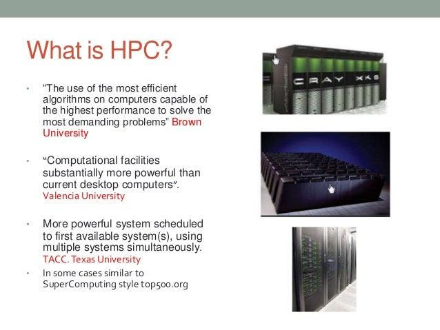 Research paper on high performance computing