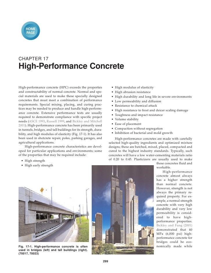 HOME     PAGECHAPTER 17High-Performance ConcreteHigh-performance concrete (HPC) exceeds the properties                   •...